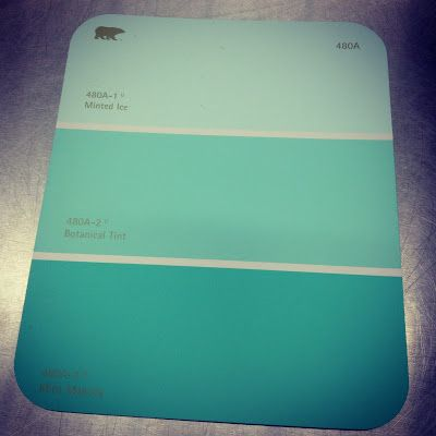 the lowe down: paint party - alli's room | mint green
