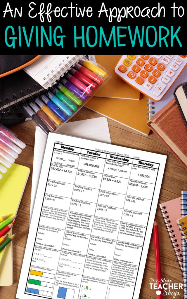 Homework! I used to hate it, but now I love it. Read about how I made homework more effective for my students. Get homework ideas and homework help for your classroom. (love the way this homework is organized!)