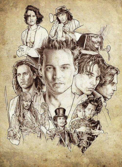 The many attractive faces of Johnny Depp