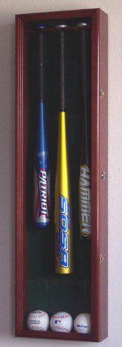 3 baseball bat display case cabinet holder wall rack w uv protection u2013 lockable