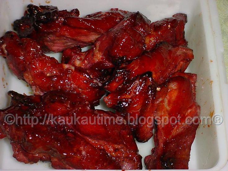 "KAUKAU TIME!--""Kaukau"" is a Hawaiian pidgin slang word meaning ""food"" or ""to eat."": Char Siu (Cantonese Sweet BBQ Roast Pork)"