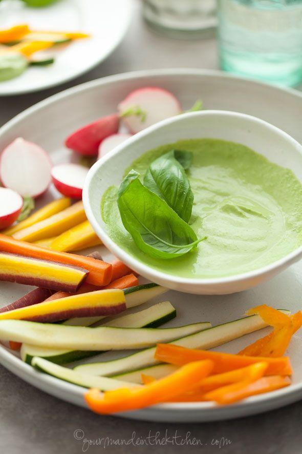Creamy Basil Parsley Dip Gourmande in the Kitchen vegan paleo raw Creamy Basil Parsley Dip