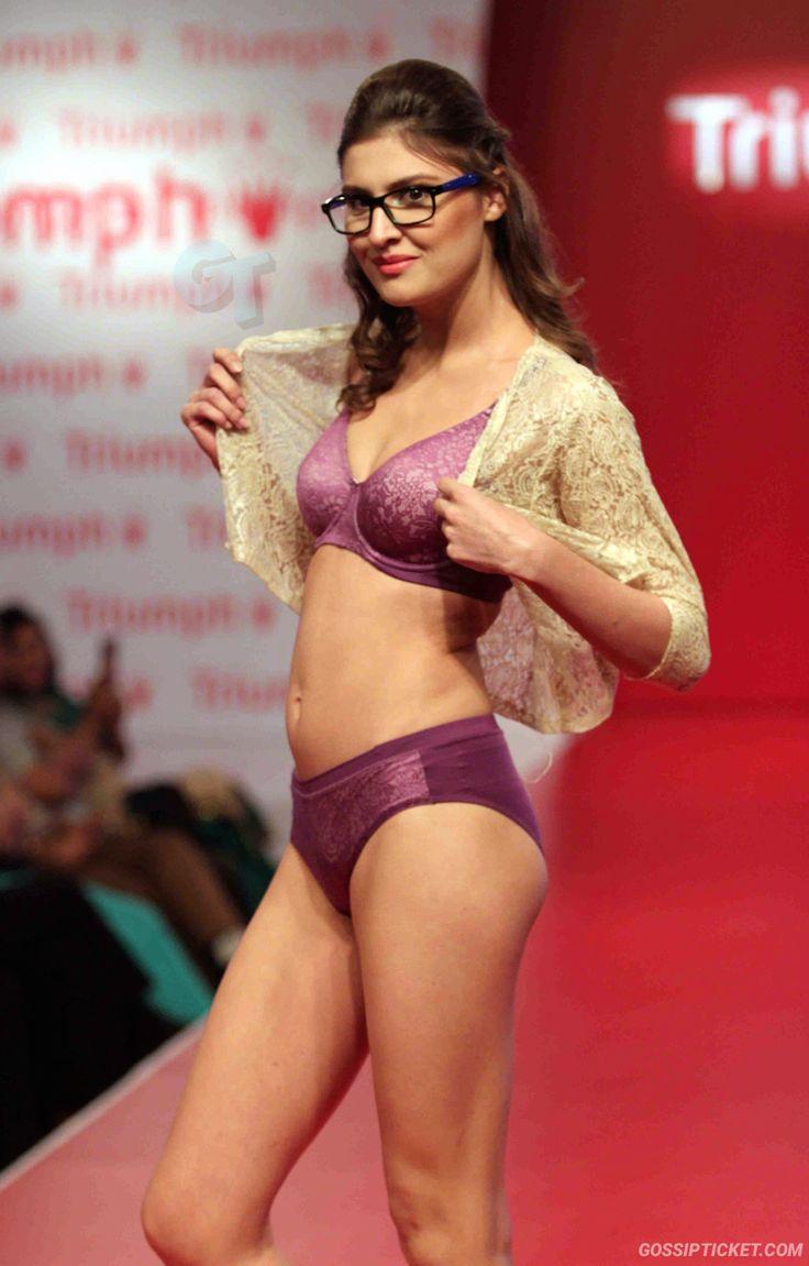 nude indian model on ramp
