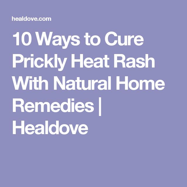 10 Ways to Cure Prickly Heat Rash With Natural Home Remedies   Healdove
