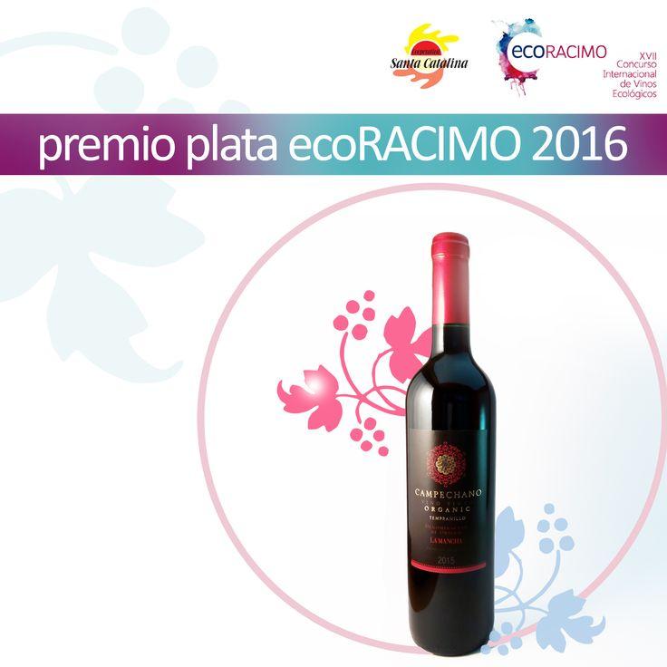 ¡Premio de Plata para nuestro Vino Tinto Campechano Ecológico!  #Montilla #Cordoba #Campechano  #SantaCatalina #VinoTinto #Tempranillo #VinoEcologico #ViinoTintoEcologico #Vino #Wine #RedWine #OrganicRedWine #OrganicWine #Premio #PremioPlataEcoRACIMO2016 #ecoRACIMO #ecoRacimo2016 #LaSolana #CastillaLaMancha #dolamancha #domancha #VinosdeCastillaLaMancha  #España #Spain #VinoTintoJoven #YoungRedWine #VinoJoven #YoungWine  http://www.ecoracimo.org/ http://www.santacatalina.es/