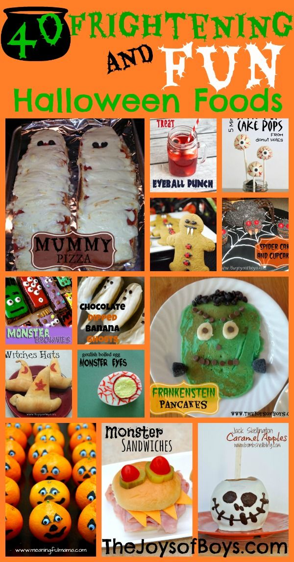 If there is one thing that I love about the holidays it is making fun food with my kids and Halloween food is definitely our favorite. Today I am sharing 40 Frighteningly Fun Halloween Food ideas t...