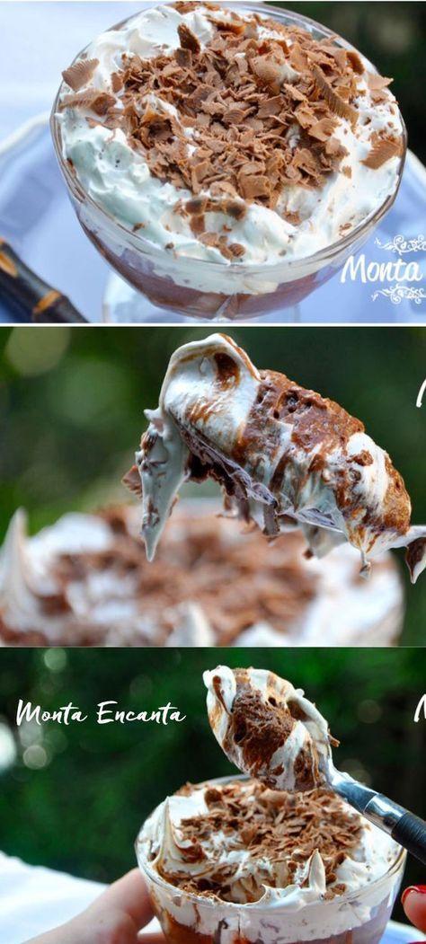 Mouse de Nha benta da Kopenhagen Mousse Aerado de Chocolate com masrshmallow! Melhor Mousse da vida