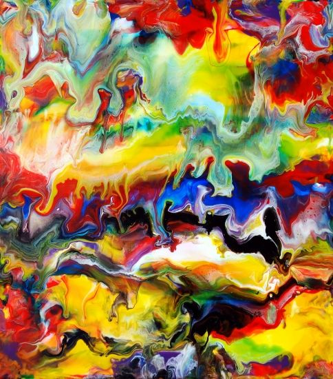 31 best colour clash images on pinterest affordable art buy fluid painting 91 by mark chadwick online buy affordable art online from top museums galleries and artists discover affordable original art for sale malvernweather Choice Image