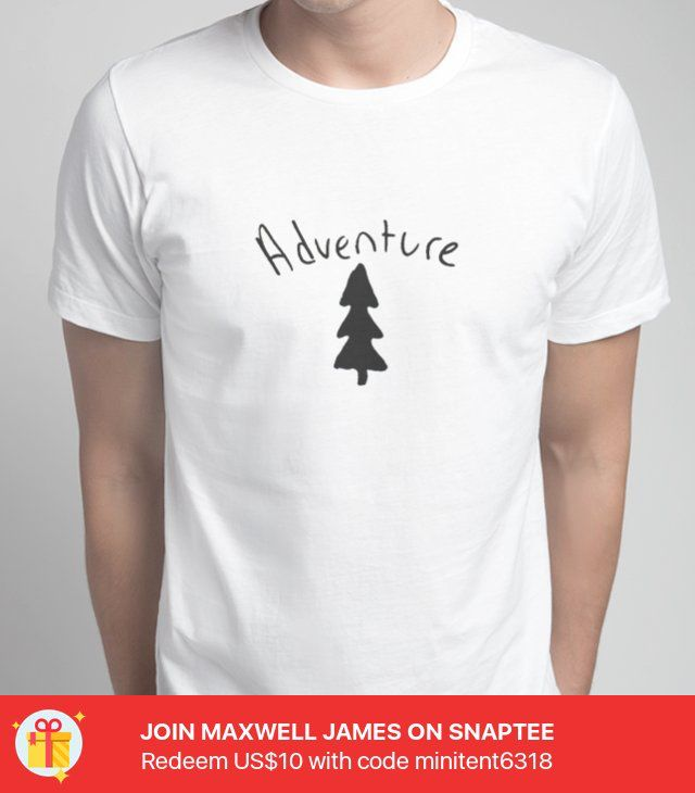 FoggyActually© Adventure tee -- Try it out #Snaptee #tshirt