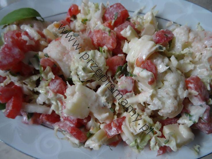 Sałatka z pomidora i kalafiora