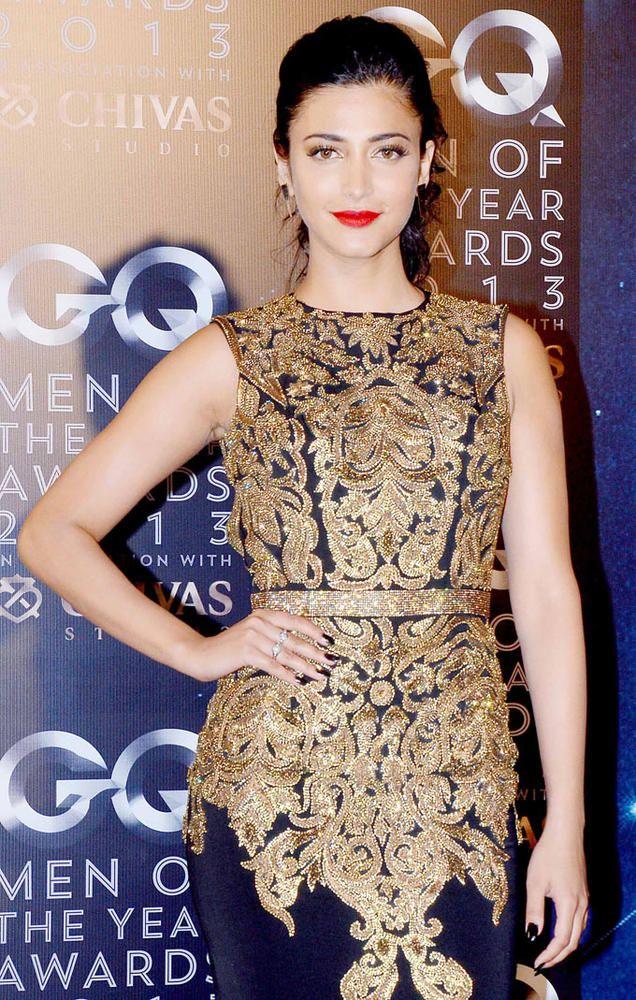 Shruti Haasan at GQ Men of the Year Awards. #Bollywood #Fashion #Style