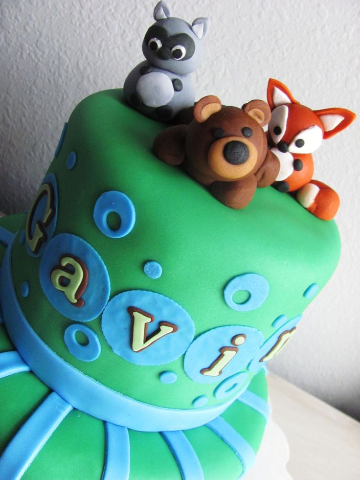 boy baby showers baby shower cakes cake ideas woodland creatures
