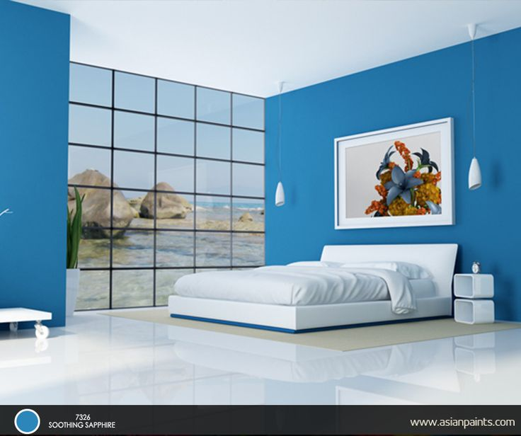 107 best room inspirations images on pinterest home for Interior design bedroom blue white