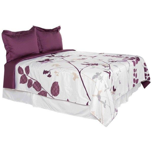 Blissliving Home Amanda Purple King Comforter Cover/Duvet Set ($295) ❤ liked on Polyvore