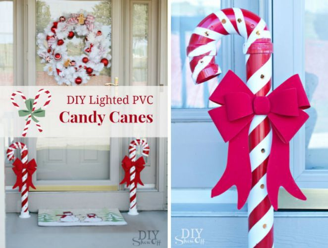 Diy Lighted Pvc Candy Canes Id 233 Es Pour La Maison