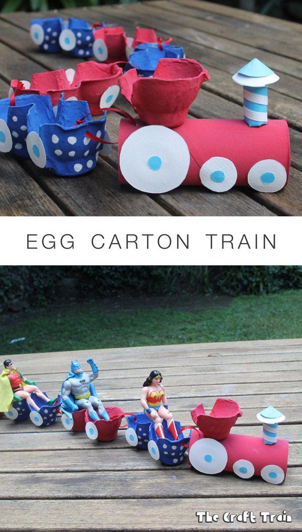 egg carton train craft