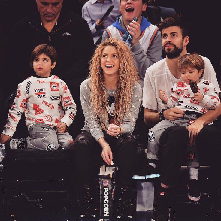 Milan Pique Mebarak Shakira Sasha Pique Mebarak and Gerard Pique at the New York Knicks Vs Philadelphia 76ers game in New York. #shakira #gerardpiqué #newyorkknicks #philadelphia76ers #basketball #newyork #knicks #sixers #madisonsquaregarden