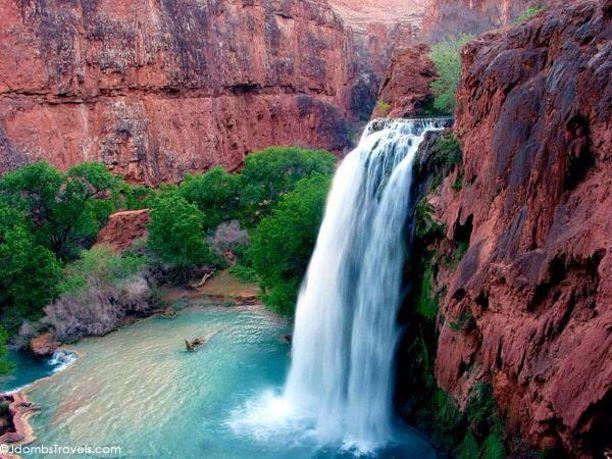 Havasu Falls, Coconino County, Arizona — by Jdomb's Travels