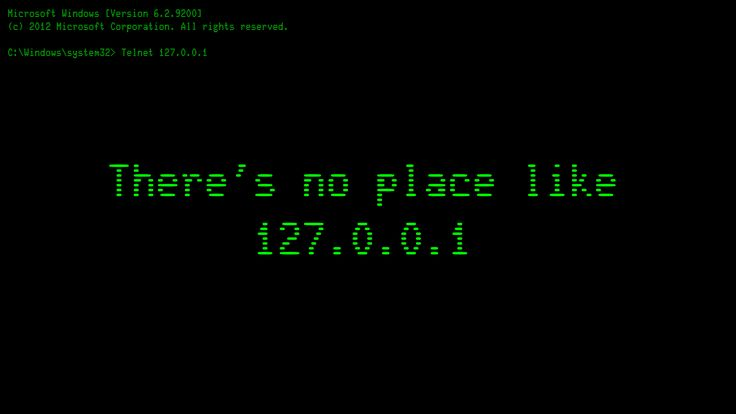 Localhost Home Black IP Address computer wallpaper 1920x1080