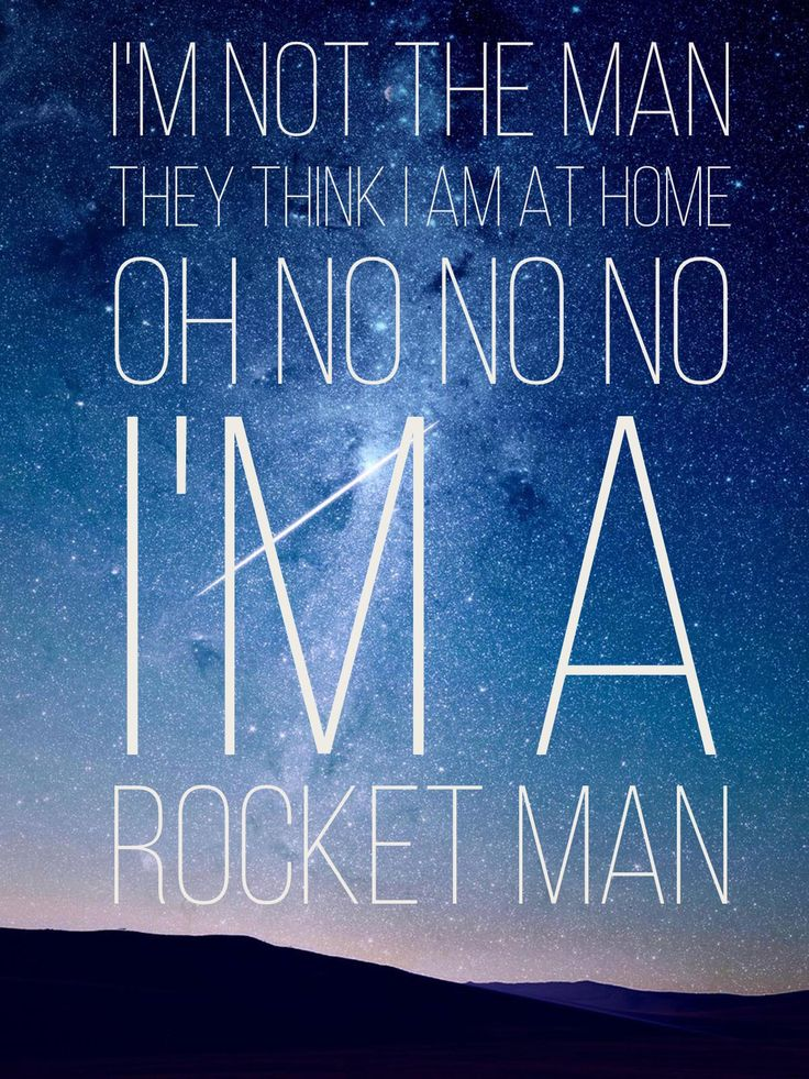Rocket man - Elton John #lyrics #retype