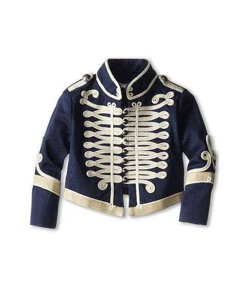 Stella McCartney Kids Will Military Jacket (Toddler/Little Kids/Big Kids) Navy - Zappos Couture