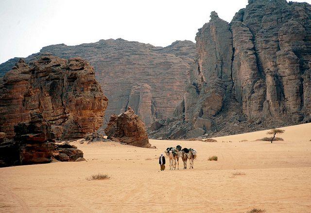 El macizo de Ahaggar al sur de Argelia
