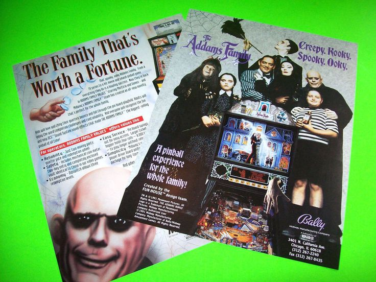 Bally The Addams Family 1991 Original NOS Pinball Machine & Arcade Game Flyers #BallyTheAddamsFamily