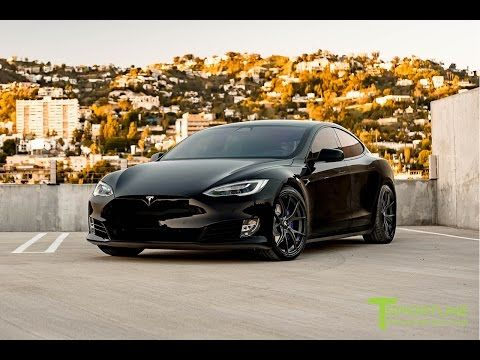 Tesla Model S Custom >> 4 Tesla Model S P100d Black With Custom Purple Accents