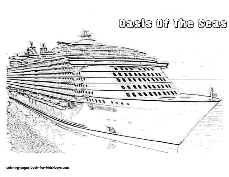 google coloring book pages boats - photo#33