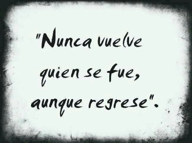 Nunca.