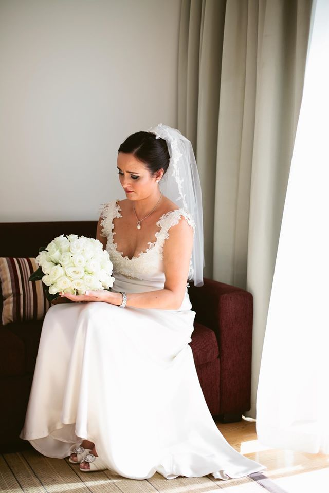 Mel's white sheath wedding dress http://www.arcarocouture.com.au/mel/