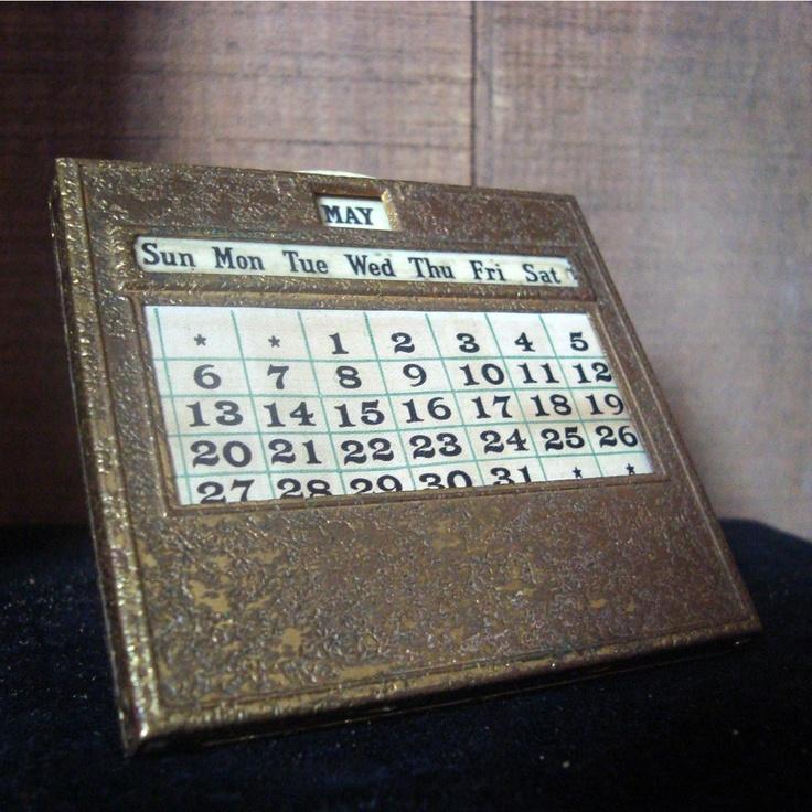 Perpetual Calendar Vintage : Best images about vintage perpetual calendars on