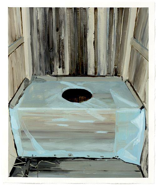Sara-Vide Ericson, Black Hole, Oil on paper, 53x63 cm, 2014