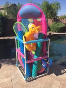 DIY Pool Toy Storage - Easy to make solution for storing pool toys.