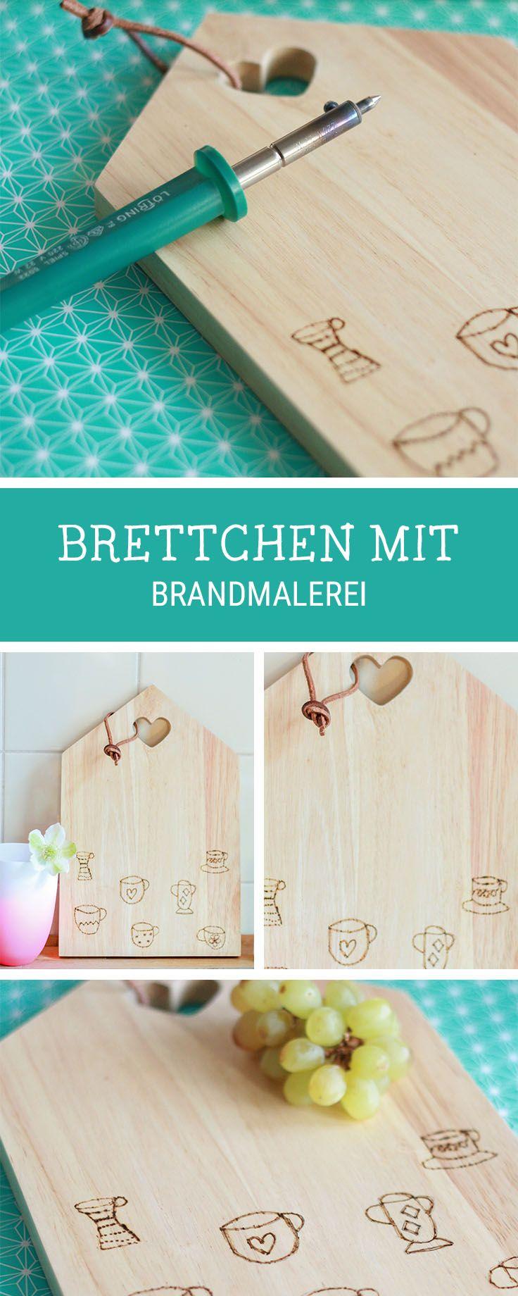 DIY-Anleitung: Küchenbrett mit Brandmalerei verzieren / diy inspiration for a wooden cutting board, customized with brandings via DaWanda.com