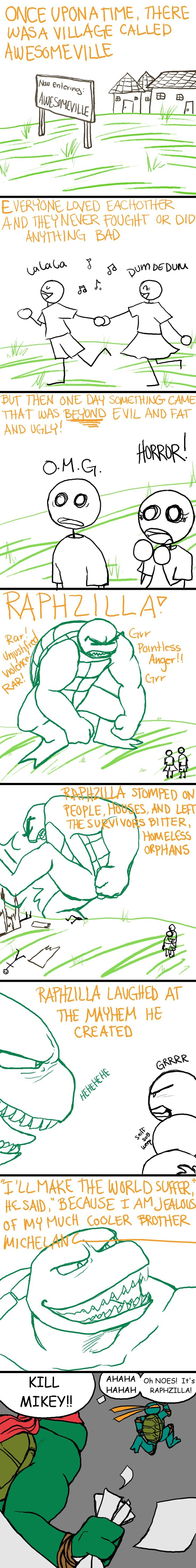MIKEY DONT DO THAT RAPH ISNT LIKE THAT! Shame on you Mikey shame