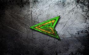 текстура, стальной, фон, металл, царапины, центр, green arrow, зеленая стрела, изумрудный, наконечник, боевой. обои