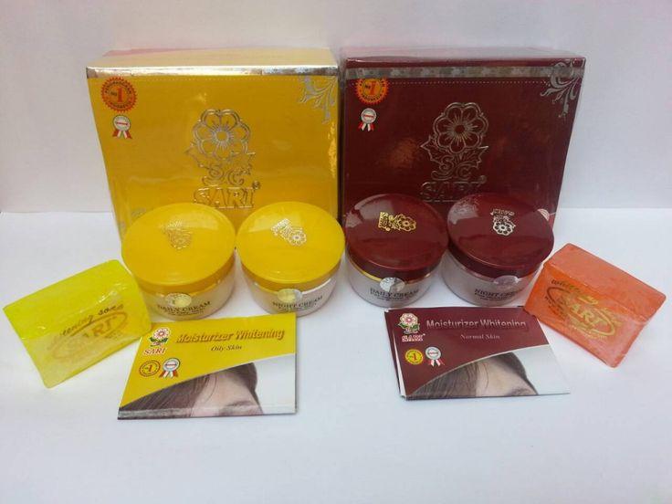Cream Sari New Pack Original  Tersedia pilihan * Untuk kulit normal ( merah ) * Untuk kult berminyak ( kuning )