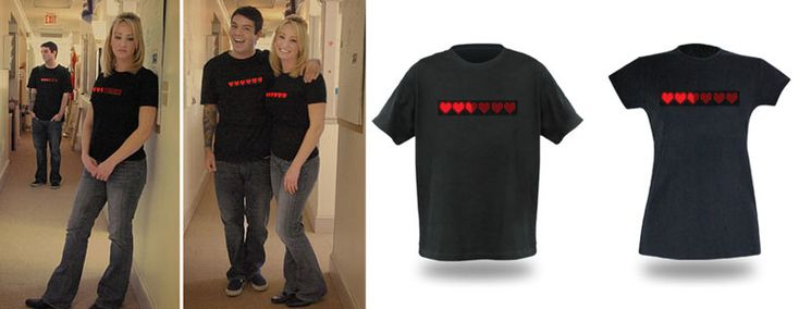 Proximity Based Dynamic Life Shirt. The most romantic video game inspired gift of all!!