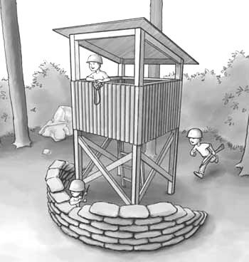 kids wooden watch tower | Playhouse Plans to Build a Child or Kids Playhouse or Stockade