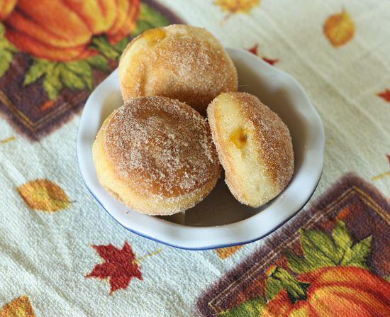 Pumpkin Pie Sufganiot - perfect for a Hanukkah thanksgiving !!!