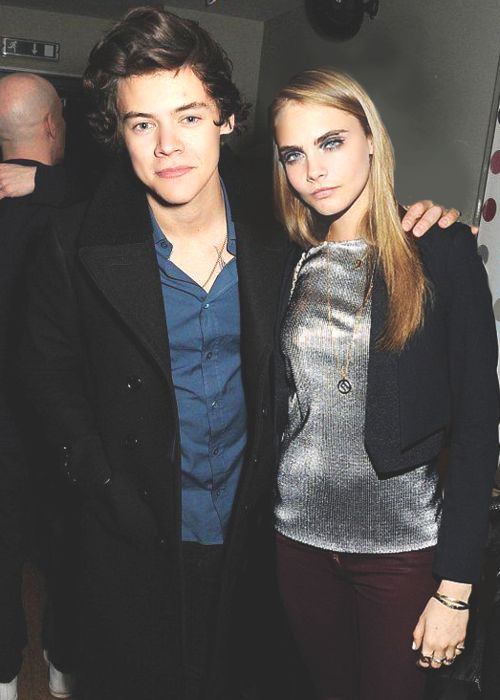 Harry Styles and Cara Delevingne <3