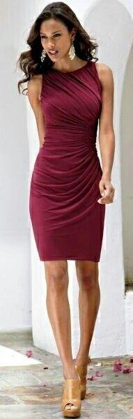 super cute burgundy dress