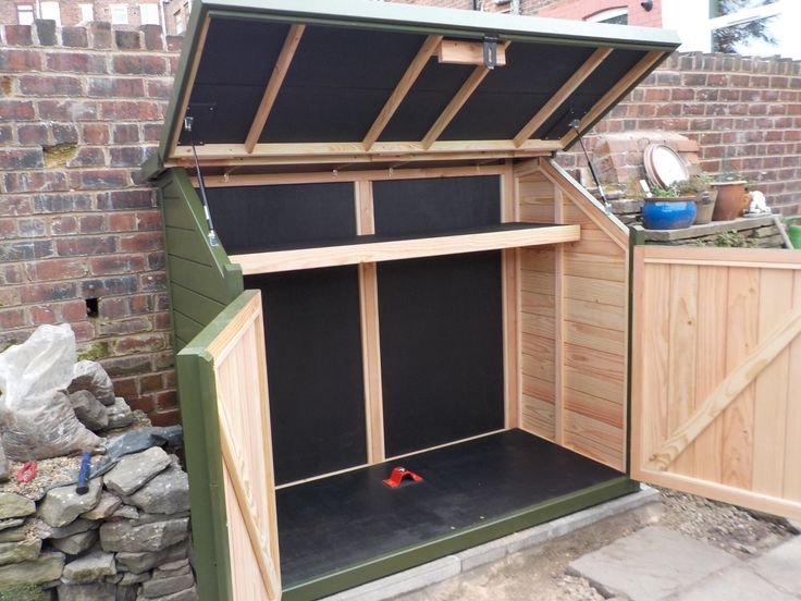 17 best ideas about shed storage solutions on pinterest for Bike garden storage solutions