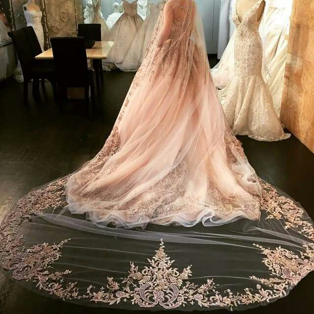 YSA Makino veil. 2016 Pin this if you want to see this dress and veil in MeaMarie Bridal Atelier!!