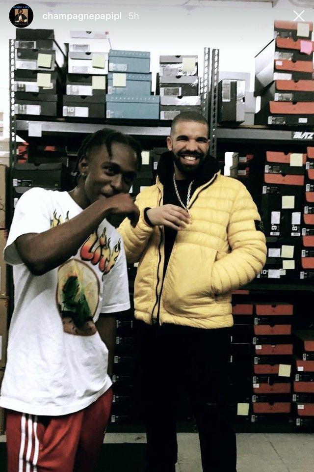 Drake wearing  Stone Island 40724 Garment Dyed Micro Yarn Jacket
