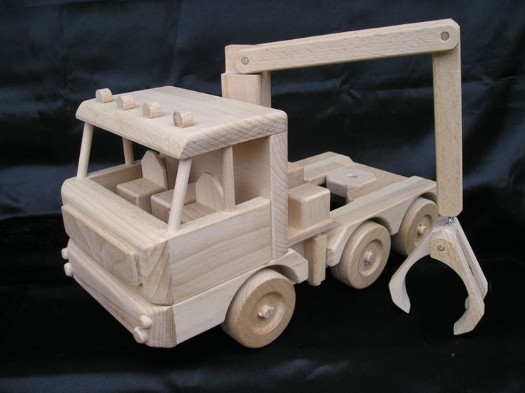 Holz-Transporter LKW 60 cm, special Holzspielzeug - Holz natürlichen Spielzeug, Autos und Flugzeugmodelle, Engel, Schmuckschatullen