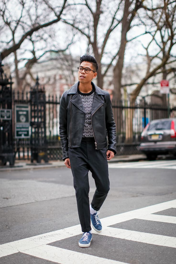SHOP THE LOOK: Brave Soul Sweater // H&M (Similar) Jacket // AllSaints Trousers // Axel Arigato (Similar) Sneakers