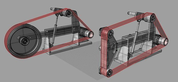 Новая машина сборки РД клон ленточно-шлифовальный станок (фото)