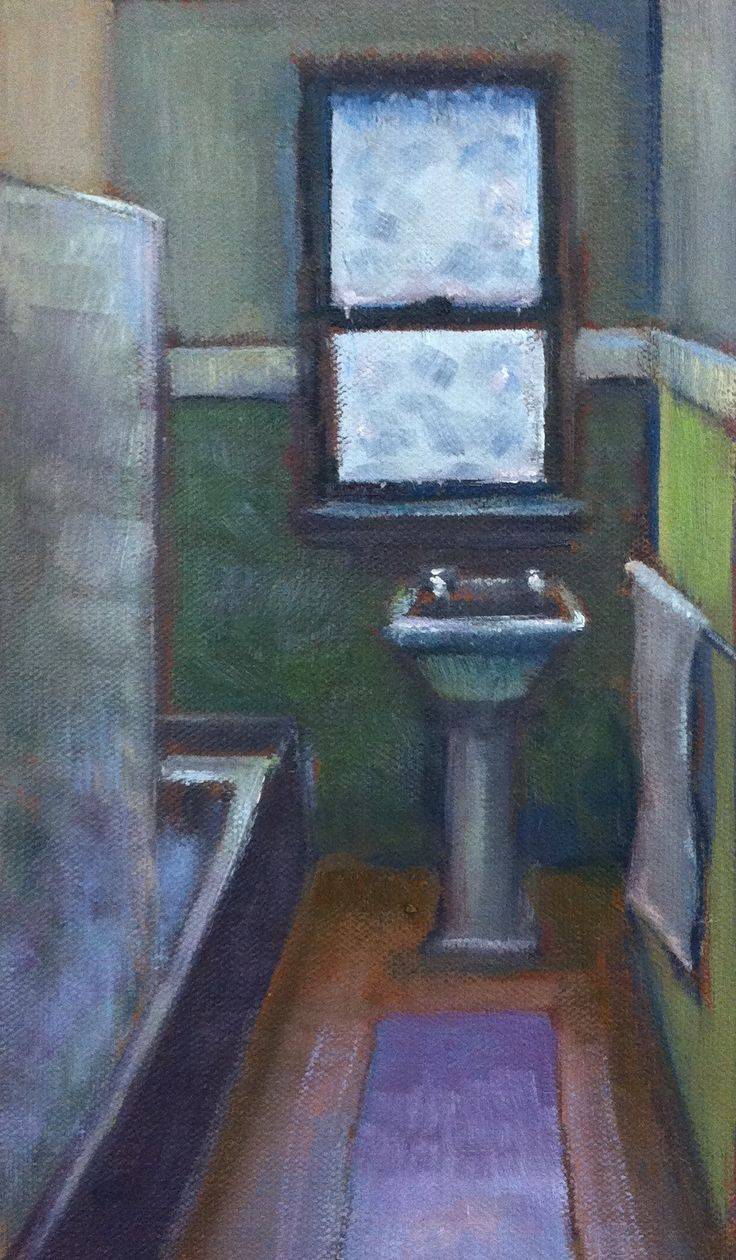 Bathroom Oil on board 22.5 x 12cm